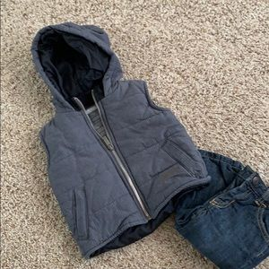 12 month Kenneth Cole Reaction vest with hoodie